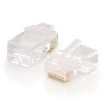 C2G RJ45 10X10 MODULAR PLUG 04744                           FOR ROUND STRANDED CABLE