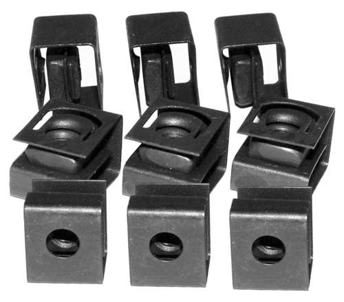 Hammond 10 32 Clip Nut Blk For Round Hole 25 Pk 1421 N25