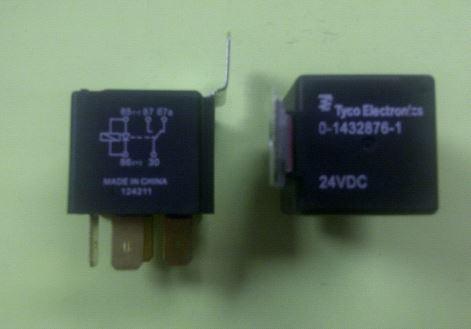 tyco 24vdc spdt relay w brkt diode 30a 1432876 1. Black Bedroom Furniture Sets. Home Design Ideas