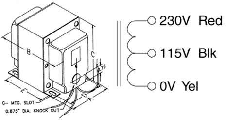 hammond autotransformer  230  115 50va  170