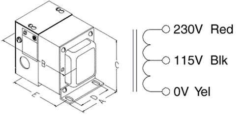 hammond autotransformer w  recept  230  115v 2000va  170je