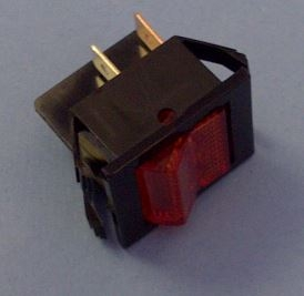 Eaton Dpst Amber Rocker Switch 16a 125v 2600a11e