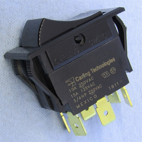 Philmore Dpdt Rocker Switch On On 15a Qc 30 16640b