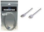 MANHATTAN USB 2.0 A-A M-F EXT CABLE SILVER (10FT) 340496