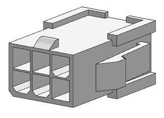 Molex 6 Pole Nylon Plug Housing 39 01 2061