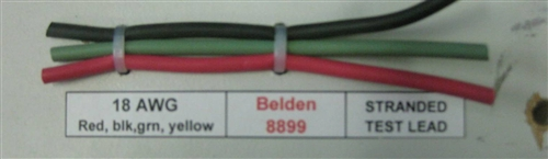 18AWG GREEN TEST PROD RUBBER WIRE 8899GRN