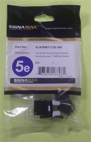 Signamax Cat5e Mt Series Hd Keyst Jack Blk Kj458mt C5e Bk