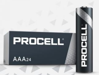 DURACELL AAA PROCELL ALKALINE BATTERY SP24 PC2400 **THIS