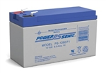 POWERSONIC 12V 8.0A.H. W/.187 QC SLA BATTERY PS1280F1