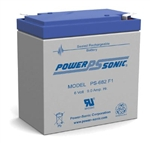 POWERSONIC 6V 9AH W/.187QC SLA BATTERY PS682F