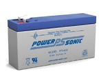 "POWERSONIC 8V 3.2AH SLA BATTERY .187"" F1 PS832"