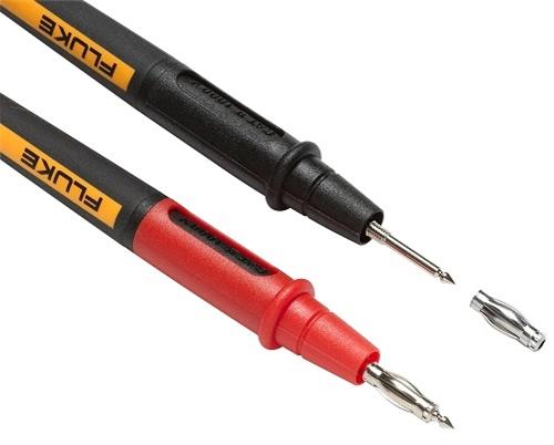 Fluke Twistguard Test Leads 2mm Tips W 4mm Adapters Tl175e