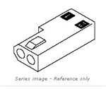 "MOLEX .062"" CONNECTOR HOUSING 2 PIN RECEPTACLE 03-06-1022P"