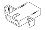 "MOLEX .093"" CONNECTOR HOUSING 8 PIN RECEPTACLE 03-09-1081P"