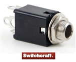 "SWITCHCRAFT 1/4"" STEREO JACK DOUBLE CLOSED CIRCUIT 114B"