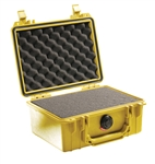 "PELICAN CASE WITH FOAM YELLOW (MFR# 1150-000-240) 1150YEL   (ID 8.18""L X 5.68""W X 3.62""D) *SPECIAL ORDER*"