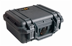 "PELICAN CASE BLACK (9-3/8"" X 7-1/4"" X 4-1/16"") 1200NFBLK    *NO FOAM* MFR# 1200-001-110"