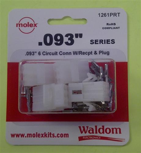Molex 093 Quot Connector Pkg 6 Pole 2 Pk 1261prt