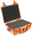 "PELICAN CASE W/FOAM ORANGE (12"" X 9-1/16"" X 5-3/16"") 1400ORG MFR# 1400-000-150"