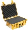 "PELICAN CASE W/FOAM YELLOW (12"" X 9-1/16"" X 5-3/16"") 1400YEL MFR# 1400-000-240"