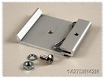 HAMMOND ALUMINUM DIN RAIL CLIP 1427DIN42M                   FOR MOUNTING TO 35 MM WIDE DIN RAILS *SPECIAL ORDER*
