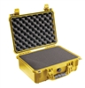 "PELICAN CASE WITH FOAM YELLOW (MFR# 1450-000-240) 1450YEL   (ID 14.62""L X 10.18""W X 6.00""D)"