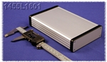 "HAMMOND EXTRUDED ALUMINUM ENCLOSURE 1455L1601               6.3"" X 4.06"" X 1.22"" W/METAL END PANELS *SPECIAL ORDER*"