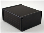 "HAMMOND BLACK EXTRUDED ALUMINUM ENCLOSURE 1455N1202BK       4.72"" X 4.06"" X 2.09"" W/PLASTIC END PANELS *SPECIAL ORDER*"