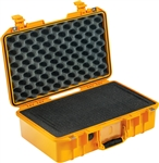 "PELICAN AIR CASE WITH FOAM (MFR# 014850-0000-240) 1485YEL   YELLOW (ID 17.75""L X 10.18""W X 6.15""D) *SPECIAL ORDER*"