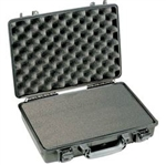 "PELICAN CASE WITH FOAM BLACK (MFR# 1490-000-110) 1490BLK    (ID 17.75""L X 11.37""W X 4.12""D)"