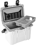 "PELICAN 14Q-1-WHTGRY 14QT WHITE/GREY PERSONAL COOLER        (ID 12.75""L X 7.25""W X 8.75""H) *SPECIAL ORDER*"