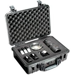 "PELICAN CASE WITH FOAM BLACK (1500-000-110) 1500BLK         (ID 16.75""L X 11.18""W X 6.12""D)"