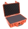 "PELICAN CASE WITH FOAM ORANGE (MFR# 1500-000-150) 1500ORG   (ID 16.75""L X 11.18""W X 6.12""D)"