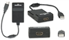 MANHATTAN USB2.0 TO HDMI ADAPTER SUPPORTS 1080P HD 151061   CONVERTS USB VIDEO & AUDIO INTO HDMI SIGNAL