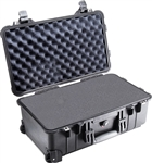 PELICAN CASE BLK W/FOAM + WHEELS 1510BLK