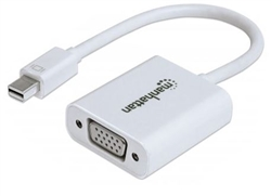 MANHATTAN MINI D-PORT MALE TO VGA FEMALE ACTIVE 151382      DISPLAY PORT-VIDEO/AUDIO/USB DATA