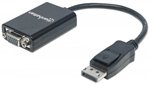 MANHATTAN D-PORT MALE TO HD15 FEMALE 15CM BLACK 151962      DISPLAY PORT-VIDEO/AUDIO/USB DATA
