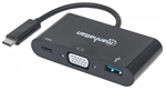 MANHATTAN SUPERSPEED USB-C VGA DOCKING CONVERTER 152044
