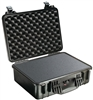 "PELICAN CASE WITH FOAM BLACK (MFR# 1520-000-110) 1520BLK    (ID 18.06""L X 12.89""W X 6.72""D)"