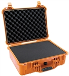 "PELICAN CASE WITH FOAM ORANGE (MFR# 1520-000-150) 1520ORG   (ID 18.06""L X 12.89""W X 6.72""D)"