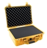 "PELICAN CASE WITH FOAM YELLOW (MFR# 1520-000-240) 1520YEL   (ID 18.06""L X 12.89""W X 6.72""D)"