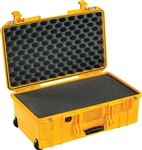 "PELICAN AIR CASE WITH FOAM (MFR# 015350-0001-240) 1535YEL   YELLOW (ID 20.39""L X 11.20""W X 7.21""D) *SPECIAL ORDER*"
