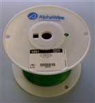 ALPHA 22AWG STRANDED GREEN HOOKUP WIRE 1551-1000GRN         (1000 FEET)