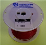 ALPHA 22AWG STRANDED RED HOOKUP WIRE 1551-1000RED           (1000 FEET)