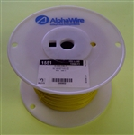 ALPHA 22AWG STRANDED YELLOW HOOKUP WIRE 1551-1000YEL        (1000 FEET)