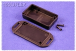 "HAMMOND BLACK PLASTIC ENCLOSURE WITH FLANGED LID 1551JFLBK  2.36"" X 1.38"" X 0.59"" *SPECIAL ORDER*"