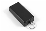 "HAMMOND BLACK PLASTIC ENCLOSURE WITH KEY RING 1551KRBK      3.15"" X 1.58"" X 0.79"" *SPECIAL ORDER*"