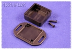 "HAMMOND BLACK PLASTIC ENCLOSURE WITH FLANGED LID 1551NFLBK  1.38"" X 1.38"" X 0.59"" *SPECIAL ORDER*"