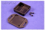 "HAMMOND BLACK PLASTIC ENCLOSURE WITH FLANGED LID 1551QFLBK  1.58"" X 1.58"" X 0.59"" *SPECIAL ORDER*"