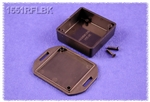 "HAMMOND BLACK PLASTIC ENCLOSURE WITH FLANGED LID 1551RFLBK  1.97"" X 1.97"" X 0.79"" *SPECIAL ORDER*"